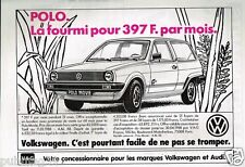 Publicité advertising 1988 VW Volkswagen Polo