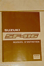 MANUAL'MAINTENANCE SUZUKI SF416 complet DE 1989 3 D cms'thickness - 1,3 kg