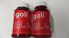 Goli Nutrition Apple Cider Vinegar Gummies 60 pieces Lot of 2 Exp 08/2022