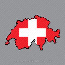 Etiqueta engomada de la bandera de Suiza-Suiza Mapa-Coche-Laptop-Macbook Notebook - 2945