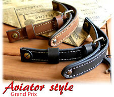 MILITARY GENUINE LEATHER  WATCH STRAP BAND WW2 VINTAGE STYLE 16mm 18mm 20mm 22mm