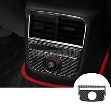 Kohlefaser Innen Mittelkonsole Hinten Blende Zigarettenanzünder Für Audi A3 S3