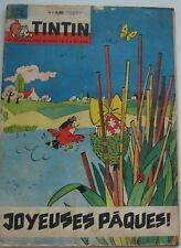 JOURNAL TINTIN N°704 JOYEUSES PAQUES /OUMPAH PAH / VAILLANT/1962 BON ETAT
