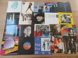 "JOB LOT COLLECTION OF 1980's ROCK,POP 7"" 45rpm VINYL SINGLES x 20. EX"