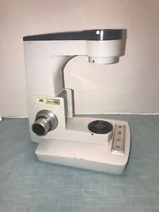 AO American Optical One Hundred Microscope Arm Stand / Course & Fine Focus GEARS