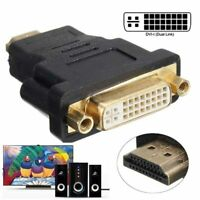 DVI 24+5 DVI-I Female to HDMI Male Video Adapter Cable Converter for PS4 HDTV PC