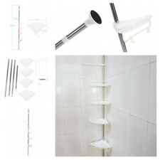 Corner Tension Pole Caddy Bathroom Shower Storage Racks Organizer Accessories