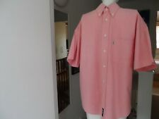 "MENS LEE COOPER SALMON PINK BUTTON DOWN SHIRT 15"" COLLAR"