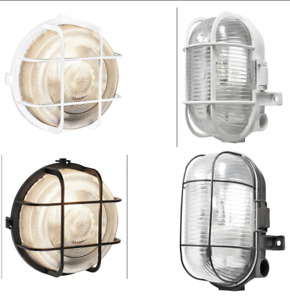 Outdoor Oval Round Bulkhead Outside Wall Light Security Exterior Lamp Garden
