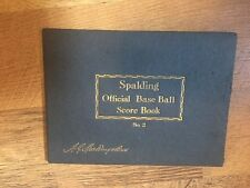 CIRCA 1930s SPALDING OFFICIAL BASEBALL SCORE BOOK with Cincinnati Reds game
