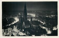 Anvers nocturnal panorama photo postcard 1950s Belgium Antwerpen