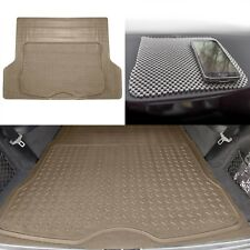 Beige Trunk Cargo Liner Mat All Weather Protection for Car SUV Van W. Dash Mat