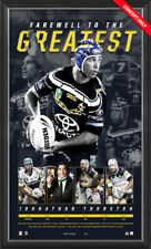 Johnathan Thurston Retirement Greatest Unframed Lithograph - Official NRL COA