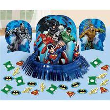 Justice LEGA SUPERMAN BATMAN Tavolo Decorazione Kit Festa di compleanno