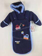 Baby Okie Dokie 2 Piece Pram Set Blue Baby Construction Snowsuit 3-6 months NWT