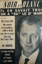 Dr WARD en COUVERTURE de NOIR et BLANC No 962 de 1963 MISS FRANCE 1963