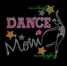 "HOTFIX RHINESTONES HEAT TRANSFER IRON ON ""Dance Dance Mom"""