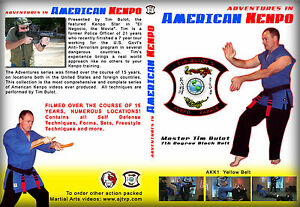 "Kenpo Karate DVD Yellow Belt Ed Parker System Tim Bulot Kenpo ""FREE SHIPPING"""
