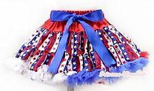 4th July Patriotic Stripe Stars Adult Women Lady Dance Party Tutu Pettiskirt