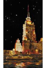 "Moscow Scene (Ukraina Hotel) Cross Stitch Kit - Riolis - (1112) - 9.50"" x 15.75"""