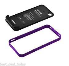 Seidio Surface Plus Extended Battery Case For Apple Iphone 4/4S Amethyst Purple