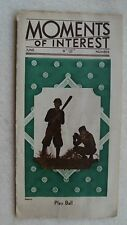 """The Bank For Savings Brochure """"Moments Of Interest"""" 30's"""