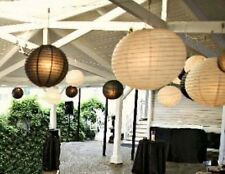12x mix black white paper lanterns with lights wedding birthday party decoration