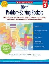 Math Problem-Solving Packets: Grade 1: Mini-Lessons for the Interactive Whiteboa