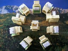 10- RJ11 Cat3 DSL/Phone Telephone Keystone Jack IVORY -FREE SHIP