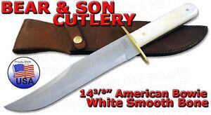 Bear & Son American Bowie White Bone w/ Sheath WSB02