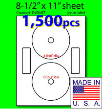 DVDNTF, 1,500 CD/DVD Labels Neato Compatible Full Face