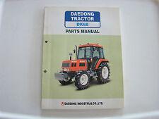 Daedong Tractor DK65 Parts Manual