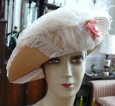 Victorian Hat 1890-1900 Large Strawberries &Cream Summer Picture Hat So Romantic