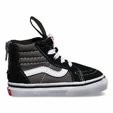 Vans SK8-Hi Zip 2 Tone Black/ Charcoal Toddlers Shoes New In Box Fast Shipping