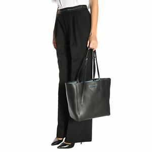 Prada Plain Leather Logo Totes with Pouch 1BG209 Leather Should bag (NWT)