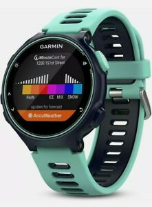 Garmin Forerunner 735XT Multisport GPS Smart Watch - Midnight Blue/Frost Blue**