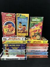 SESAME STREET Muppets VHS Video COLLECTION PBS RARE OOP Vintage Lot (16) CTW