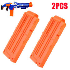 2PC Reload Clear Soft Clip System Magazine Replacement for Nerf N-strike Toy Gun