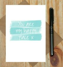 You are my happy place card - sweet love card - cute Valentine's Day card - love