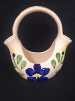 PURINTON POTTERY Slip Ware Floral Vase NICE VIBRANT PIECE