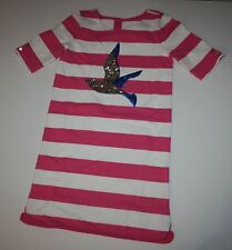 New Gymboree Pink White Striped Seagull Bird Dress 5 year NWT Shore to Love