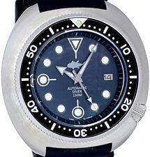 Vintage SEIKO diver Big 49mm 316L SS TURTLE case MOP dial Genuine 7002 movement!