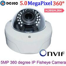 Indoor Dome Camera 5MP Fisheye 5.0Megapixel 360 Degree Panoramic IP Camera H.265