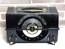 RADIO ZENITH J615Y BLACK ANNO 1950 WAIMEA VINTAGE MODERNARIATO VALVOLE BAKELITE