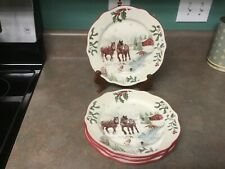 Better Homes and Gardens Heritage Collection Horses 4 Salad Plates