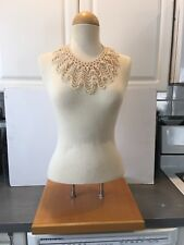 Female Counter Table Top Mannequin Dress Form Adjustable Square Wood Base