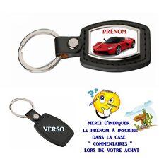 porte clé simili cuir voiture de sport personnalisé avec prénom choix réf 05