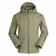 Tactical Sharkskin SoftShell Hooded Jacket Men's Military Fleece Coat Waterproof