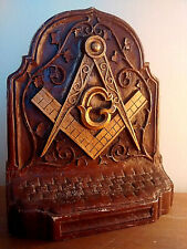Masonic Antique Book-ends from the Victorian Period, Cast, High Detail, Large