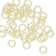 50 Jump Rings 6mm twisted hand cut Brass jewelry finding open jumprings 18g